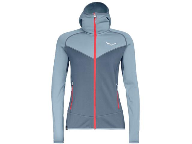 SALEWA Puez 3 PowerLite Sweat à capuche zippé Femme, blue fog